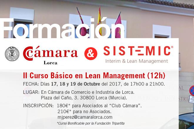 II CURSO BÁSICO EN LEAN MANAGEMENT. CÁMARA DE COMERCIO DE LORCA